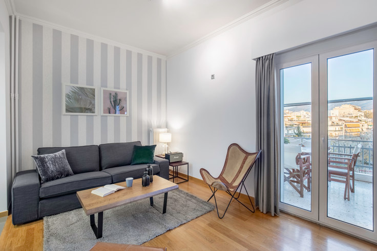 2 bedroom furnished apartment in Theagenous 145, Pangrati, Athens, photo 1