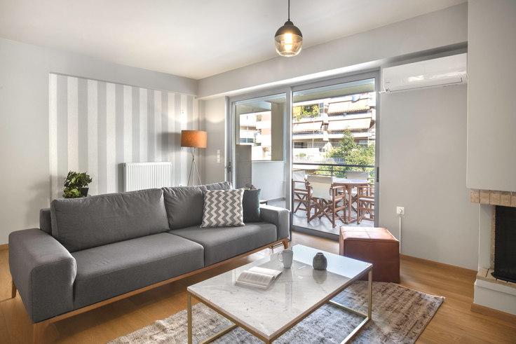 2 bedroom furnished apartment in Papaflessa 186, Palaio Faliro, Athens, photo 1