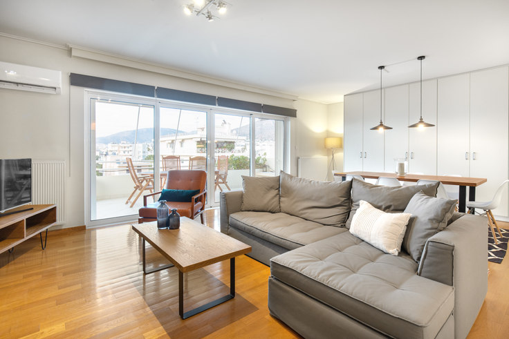 2 bedroom furnished apartment in Christoforou Nezer 314, Glyfada, Athens, photo 1