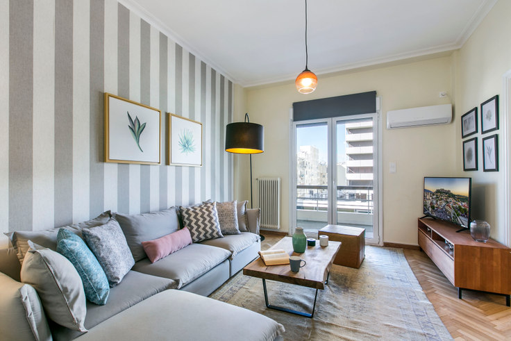 3 bedroom furnished apartment in Kifisias Avenue III 391, Ampelokipoi, Athens, photo 1