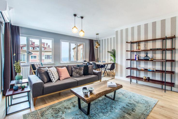 3 bedroom furnished apartment in Güzel Konutlar - 112 112, Ulus, Istanbul, photo 1