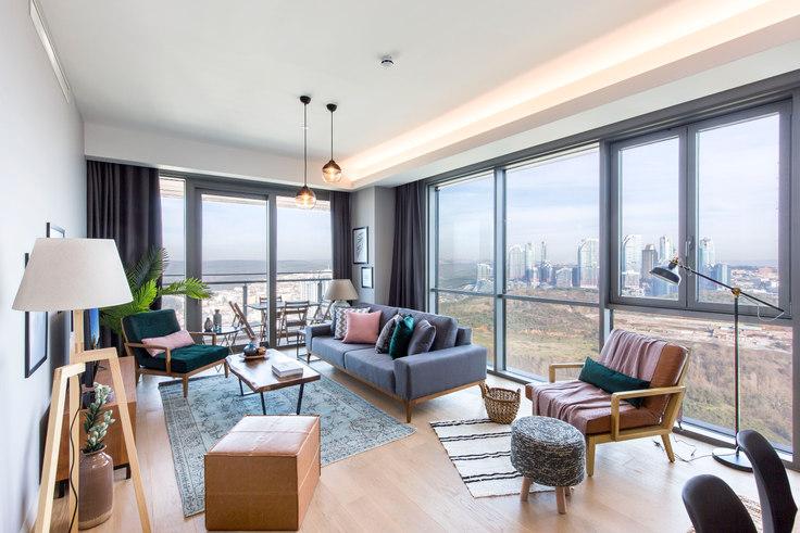 3 bedroom furnished apartment in Nidapark - 119 119, Huzur, Istanbul, photo 1
