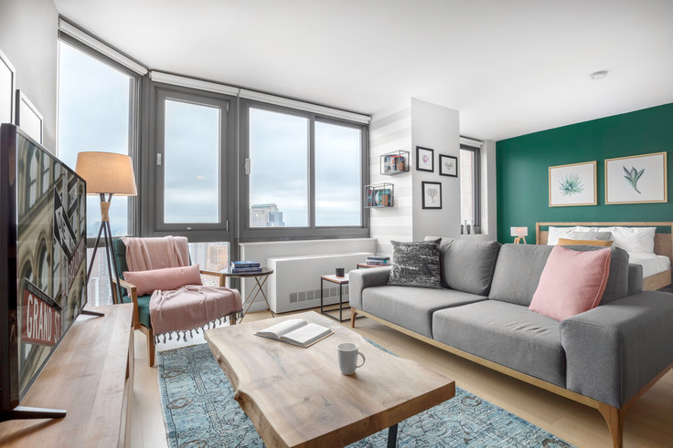 Studio furnished apartment in Tribeca Tower, 105 Duane St 38, Tribeca, New York, photo 1