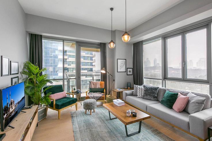 2 bedroom furnished apartment in Nidapark - 137 137, Huzur, Istanbul, photo 1