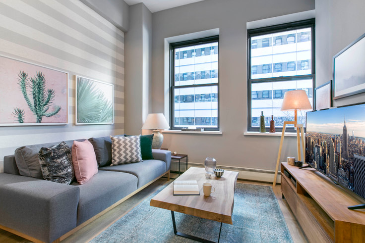 1 bedroom furnished apartment in 53 Park Pl 52, Tribeca, New York, photo 1