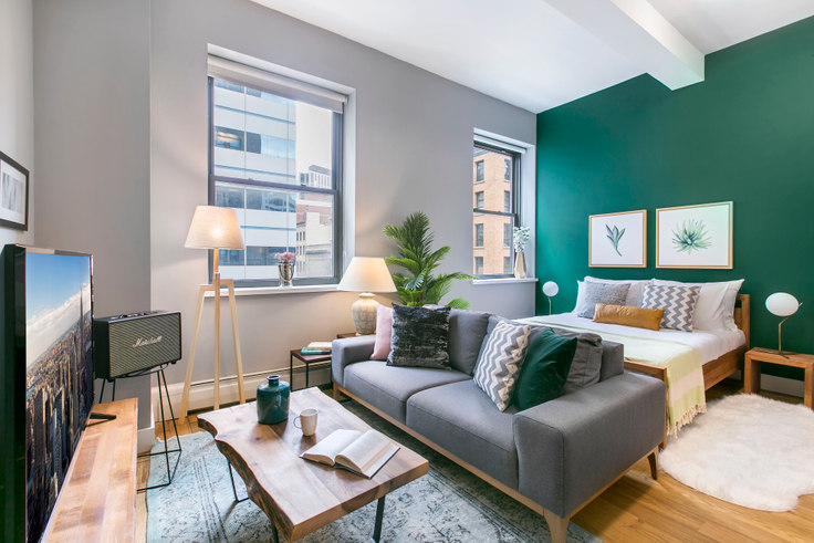 Studio furnished apartment in 53 Park Pl 53, Tribeca, New York, photo 1