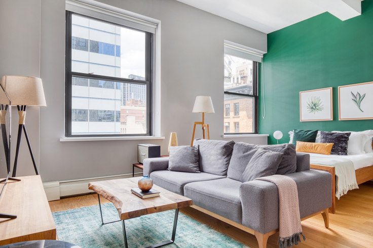 Studio furnished apartment in 53 Park Pl 55, Tribeca, New York, photo 1