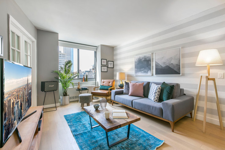 2 bedroom furnished apartment in Tribeca Tower, 105 Duane St 58, Tribeca, New York, photo 1