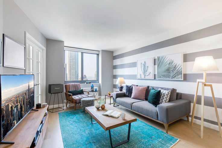 2 bedroom furnished apartment in Tribeca Tower, 105 Duane St 59, Tribeca, New York, photo 1