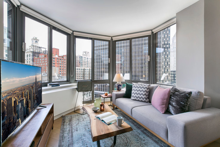 Studio furnished apartment in Tribeca Tower, 105 Duane St 68, Tribeca, New York, photo 1
