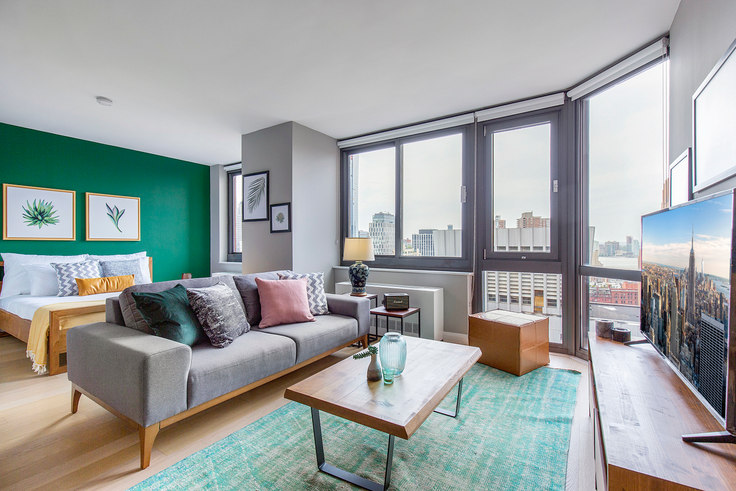 Studio furnished apartment in Tribeca Tower, 105 Duane St 75, Tribeca, New York, photo 1
