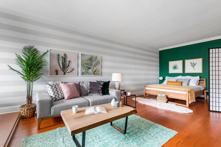 Studio furnished apartment in 10 Downing St 104, West Village, New York, photo 1