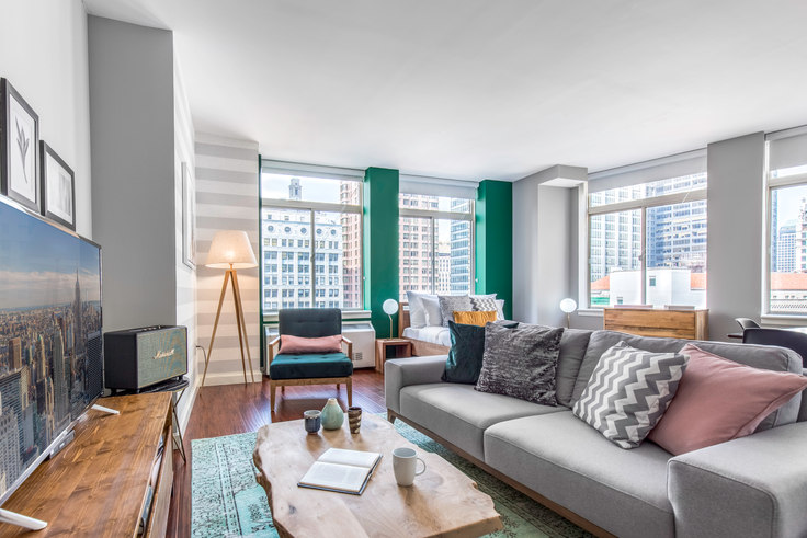 Studio furnished apartment in Renaissance, 100 John St 112, Financial District, New York, photo 1