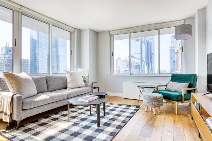 2 bedroom furnished apartment in Riverbank, 560 W 43rd St 126, Midtown West, New York, photo 1