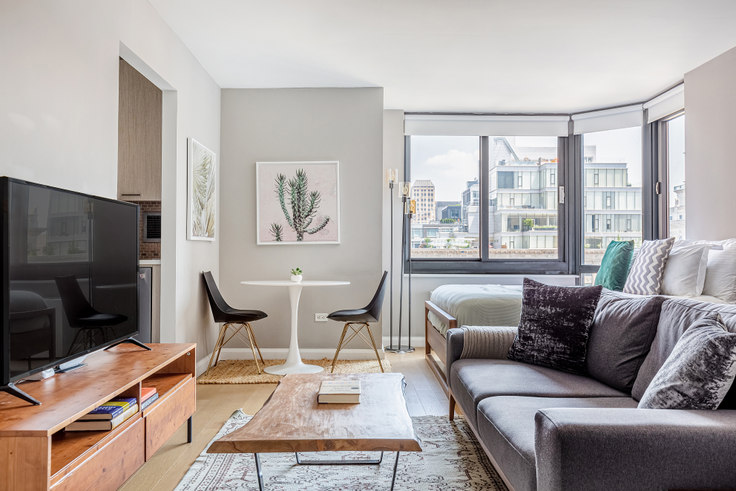 Studio furnished apartment in Tribeca Tower, 105 Duane St 127, Tribeca, New York, photo 1