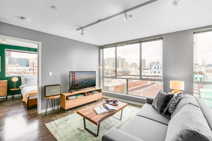 1 bedroom furnished apartment in GlasDore Lofts, 30 Dore St 32, SoMa, San Francisco Bay Area, photo 1
