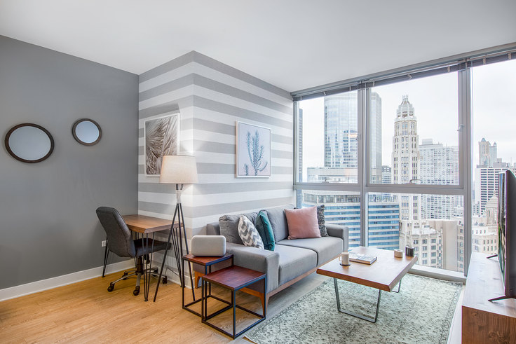 1 bedroom furnished apartment in Mila, 201 N Garland Ct 5, The Loop, Chicago, photo 1