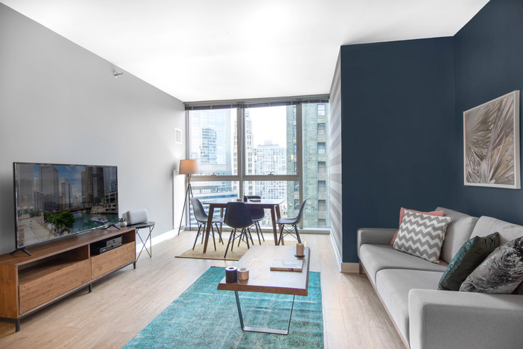 1 bedroom furnished apartment in Mila, 201 N Garland Ct 6, The Loop, Chicago, photo 1