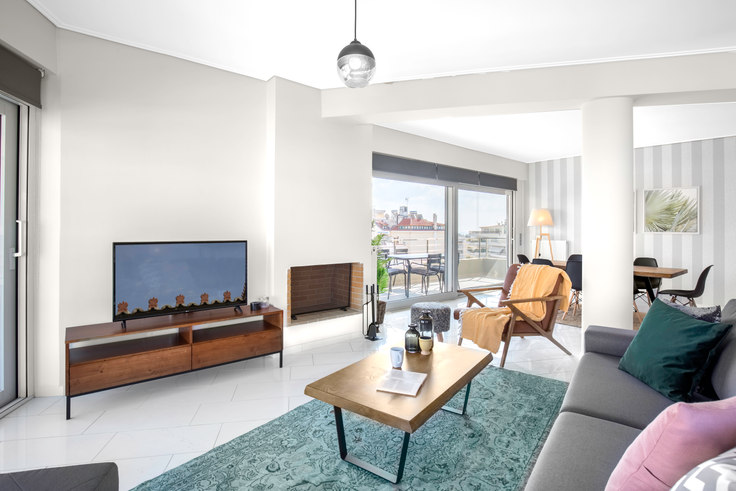 2 bedroom furnished apartment in Davaki II 526, Alimos, Athens, photo 1