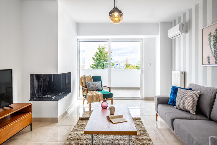2 bedroom furnished apartment in Doganis III 542, Piraeus, Athens, photo 1