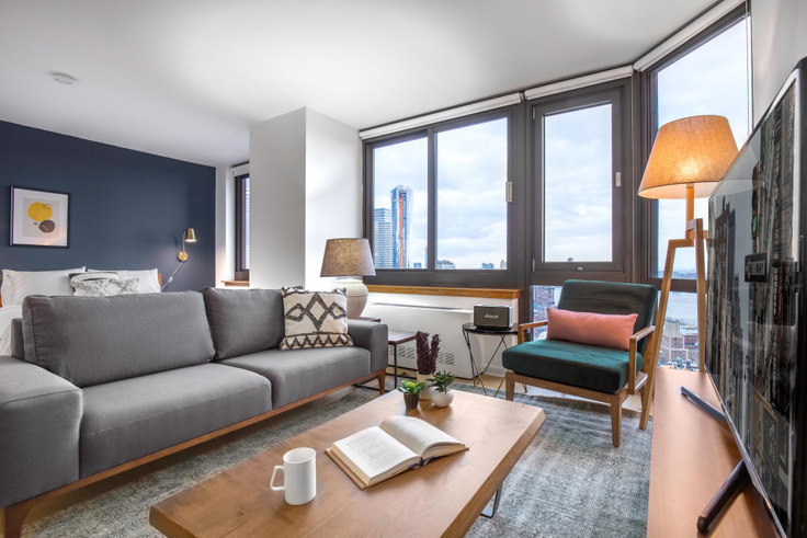 Studio furnished apartment in Tribeca Tower, 105 Duane St 184, Tribeca, New York, photo 1