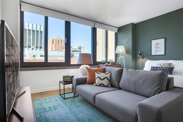 Studio furnished apartment in Tribeca Tower, 105 Duane St 185, Tribeca, New York, photo 1