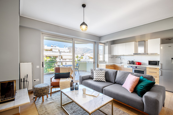 2 bedroom furnished apartment in Kiprou II 558, Glyfada, Athens, photo 1