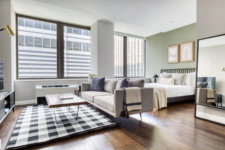 Studio furnished apartment in 95 Wall St 207, Financial District, New York, photo 1