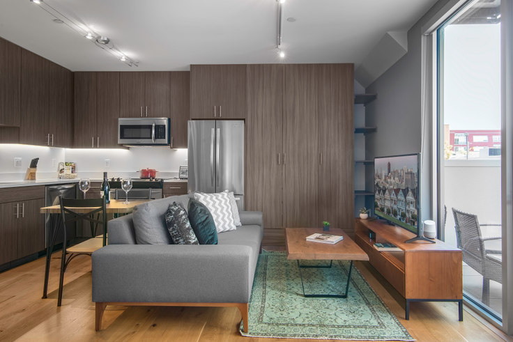 Studio furnished apartment in 246 Ritch St 72, South Park, San Francisco Bay Area, photo 1