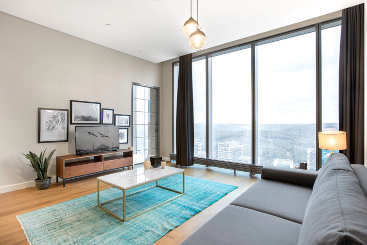 1 bedroom furnished apartment in Skyland - 201 201, Huzur, Istanbul, photo 1