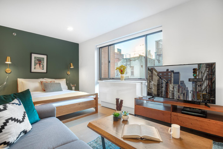 Studio furnished apartment in The Cameo, 311 W 50th St 228, Midtown, New York, photo 1