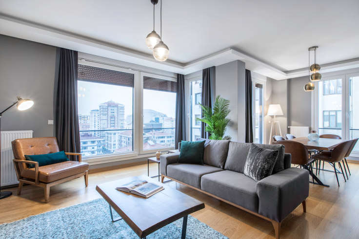 3 bedroom furnished apartment in Ezgi - 208 208, Caddebostan, Istanbul, photo 1