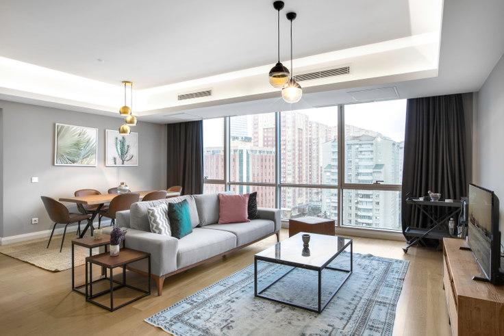 3 bedroom furnished apartment in Andromeda Gold - 213 213, Doğu Ataşehir, Istanbul, photo 1