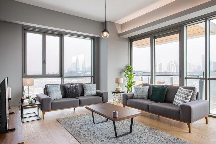 3 bedroom furnished apartment in Nidapark - 225 225, Huzur, Istanbul, photo 1