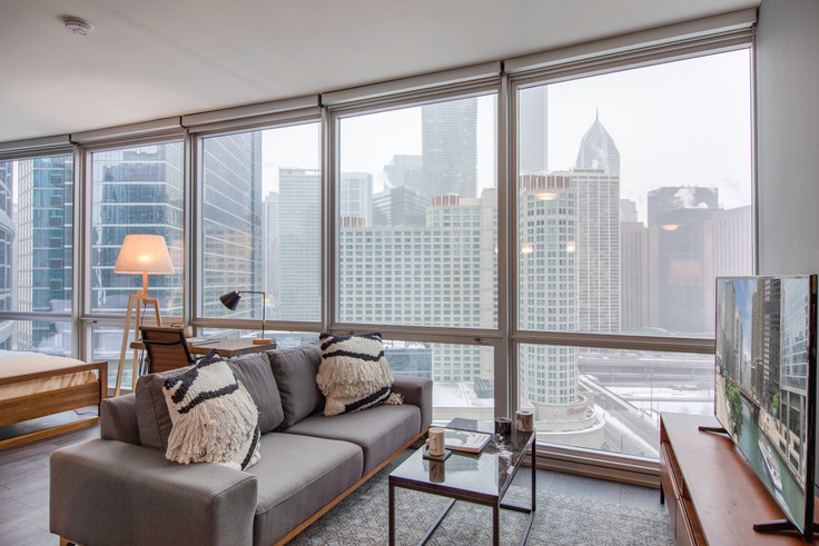 Studio furnished apartment in 465 N Park Dr 37, Streeterville, Chicago, photo 1