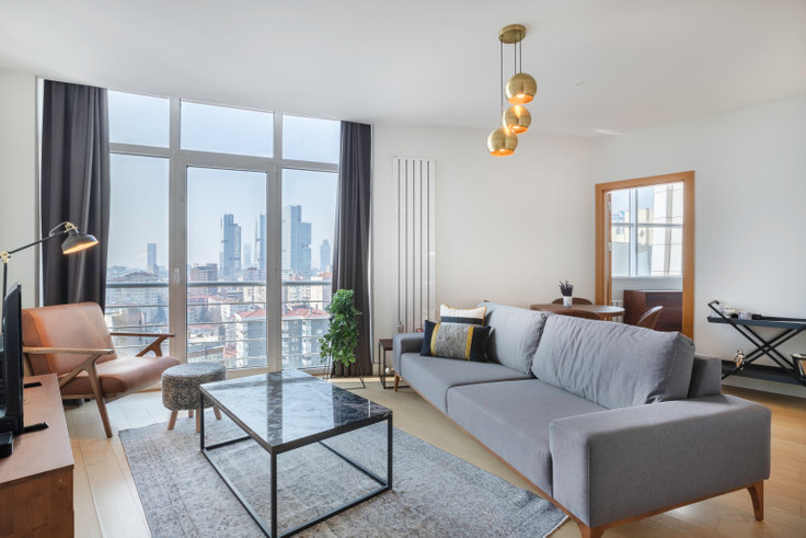 1 bedroom furnished apartment in Selenium Panorama - 272 272, Gayrettepe, Istanbul, photo 1