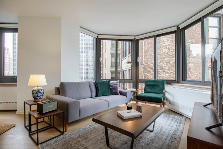 Studio furnished apartment in Tribeca Tower, 105 Duane St 245, Tribeca, New York, photo 1