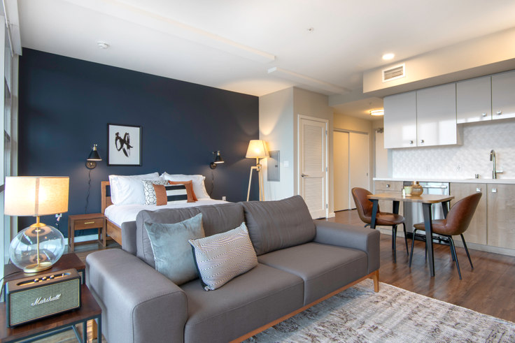 Studio furnished apartment in L Seven, 1222 Harrison St 94, SoMa, San Francisco Bay Area, photo 1