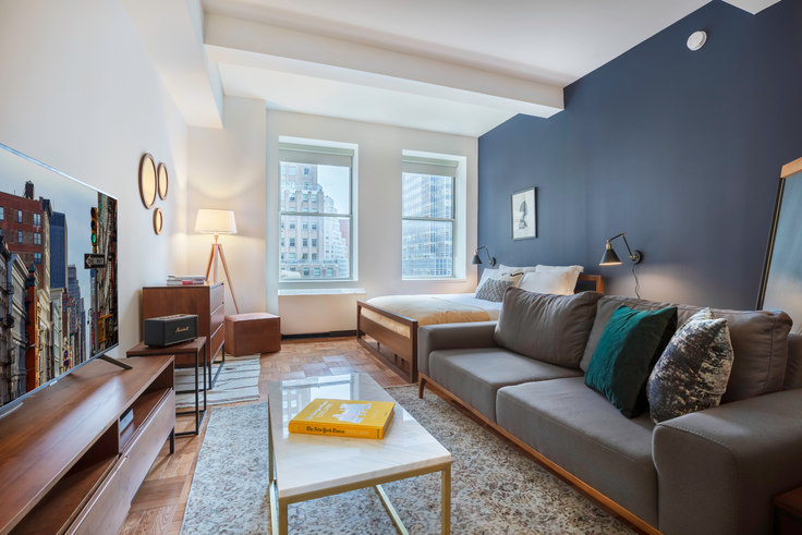 Studio furnished apartment in 67 Wall St 271, Financial District, New York, photo 1