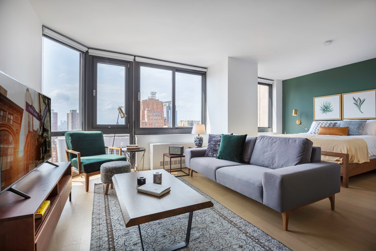 Studio furnished apartment in Tribeca Tower, 105 Duane St 273, Tribeca, New York, photo 1