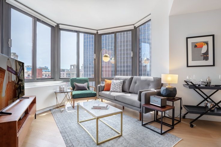 Studio furnished apartment in Tribeca Tower, 105 Duane St 280, Tribeca, New York, photo 1