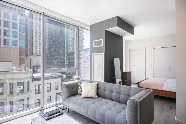 Studio furnished apartment in 8 E Huron St 72, River North, Chicago, photo 1