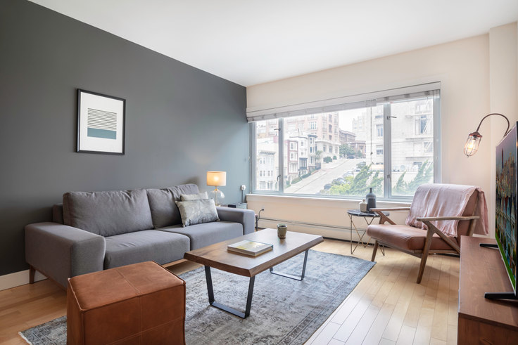 1 bedroom furnished apartment in Pinnacle at Nob Hill, 899 Pine St 140, Nob Hill, San Francisco Bay Area, photo 1