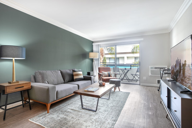 1 bedroom furnished apartment in Westside Terrace, 3636 S Sepulveda Blvd 109, West LA, Los Angeles, photo 1