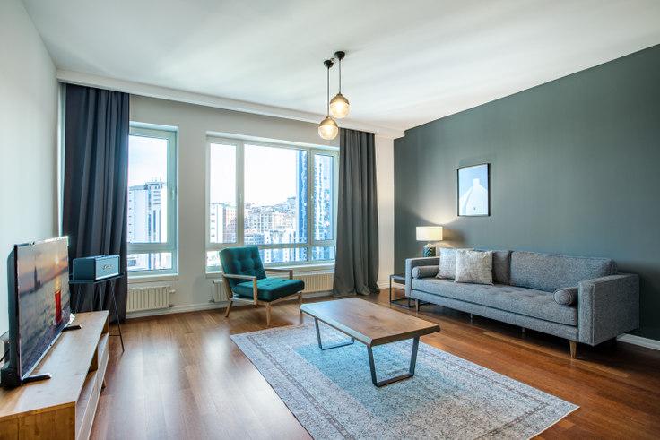 1 bedroom furnished apartment in Selenium 34 - 306 306, Fulya, Istanbul, photo 1