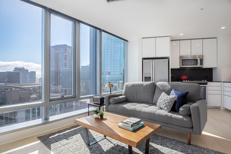 1 bedroom furnished apartment in 340 Fremont St 144, Rincon Hill, San Francisco Bay Area, photo 1