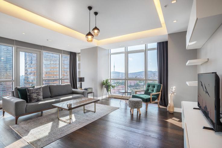 2 bedroom furnished apartment in Varyap Meridian - 310 310, Batı Ataşehir, Istanbul, photo 1