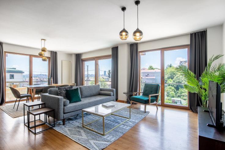 3 bedroom furnished apartment in Değirmentepe Ayhan - 324 324, İstinye, Istanbul, photo 1