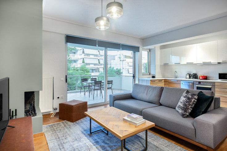 2 bedroom furnished apartment in Kiprou III 723, Glyfada, Athens, photo 1