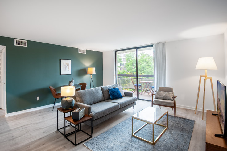 1 bedroom furnished apartment in The Remington, 601 24th St NW 70, Foggy Bottom, Washington D.C., photo 1